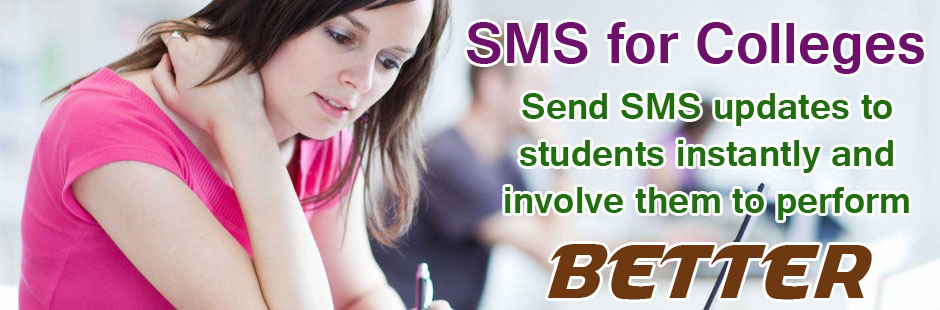 Benefits of Using SMS for Colleges in India