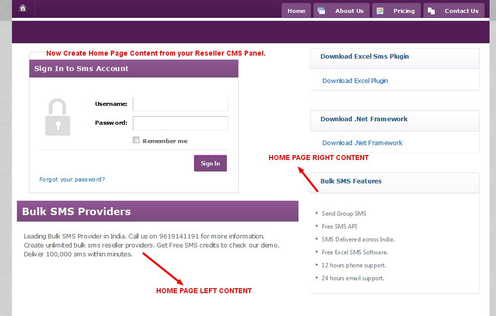 Bulk SMS Reseller Panel – New CMS Options Added