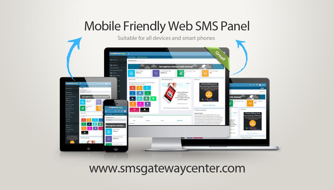 SMSGatewayCenter Web SMS Panel