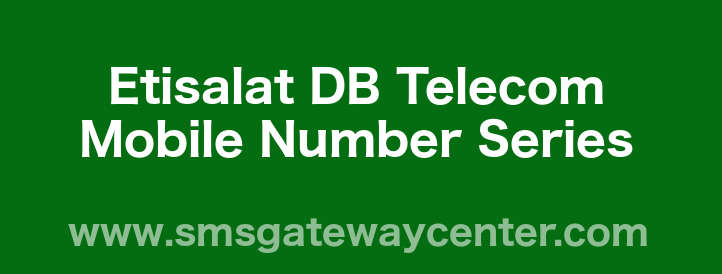 List of Etisalat DB Telecom Mobile Number Series in India