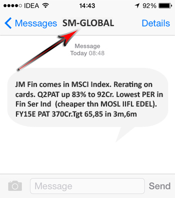 Sender Names for Promotional SMS Route