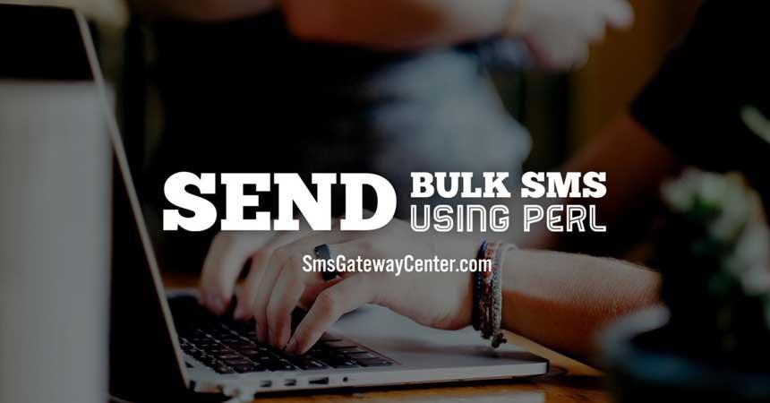 Send Bulk SMS using PERL