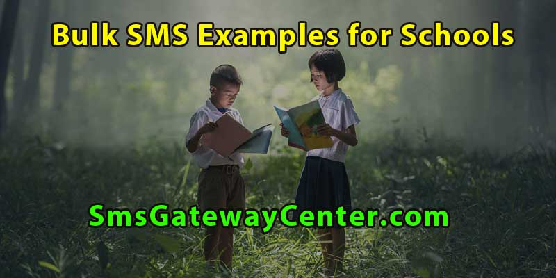 Bulk SMS for Schools | Bulk SMS Templates for Schools